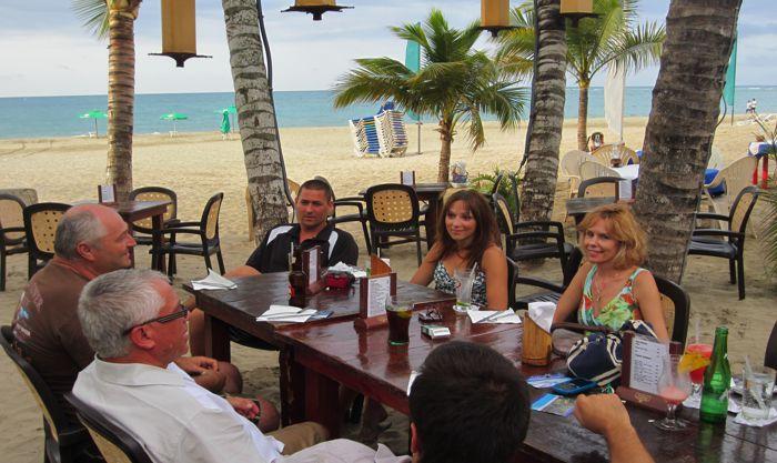 dinner on cabarete beach