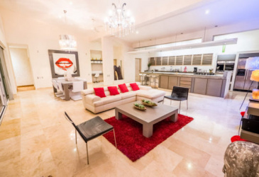 Villa Corazón is one of the largest properties in Villas Agua Dulce.Built on a lot of 1,247 M2 / 13,423 Sq. Ft., It has a covered area of 381 M2 / 4,104 Sq. Ft. It has 5 bedrooms with en-suite bathrooms, a large living room with integrated kitchen, large windows overlooking the the pool and parking with capacity for 3 vehicles.It has a large swimming pool distributed over 3 levels with a waterfall and hydromassage, with a wooden deck of excellent quality around it.It was designed exclusively with superior quality materials.Its architecture combines modern design with the nature of the Caribbean.  The VILLA CORAZÓN property includes all the furniture, decoration and accessories necessary to ensure a comfortable and sophisticated space.The rooms have air conditioning and large windows with exclusive views.It has a 70 M2 / 750 Sq. Ft. Equipped terrace with spectacular 180 degree ocean views, concrete parking and a three-level heated pool.Property available for immediate possession.