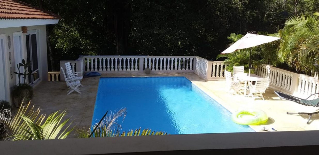 Property in the Dominican Republic, Private spaces along a ravine, gated community, tiled hispanic roof